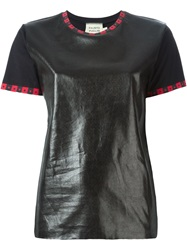 Fausto Puglisi Coated Panel T Shirt Black