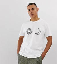 Reclaimed Vintage Oversized T Shirt With Sun And Moon Print In White