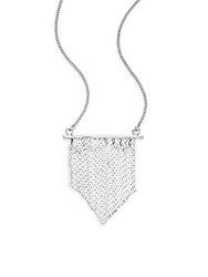 Jules Smith Designs Bar Fringe Pendant Necklace Silver