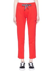 Proenza Schouler Pswl Graphic Drawstring Track Pants Red