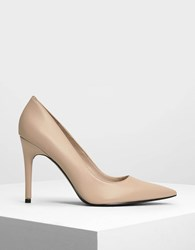 Charles And Keith Pointed Toe Pumps Nude