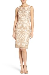 Adrianna Papell Women's Embroidered Sheath Dress