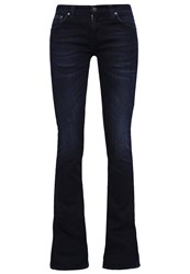 Nudie Jeans Funky Frank Bootcut Blue Black Dark Blue Denim
