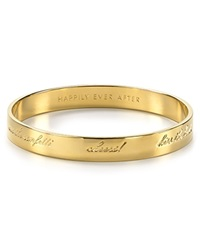 Kate Spade New York Bride Engraved Idiom Bangle Gold