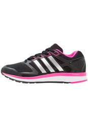 Adidas Performance Nova Bounce Neutral Running Shoes Core Black Metallic Silver Shocking Pink
