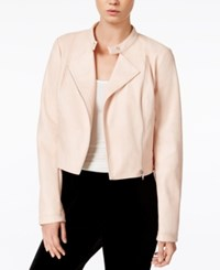Bar Iii Cropped Faux Leather Jacket Only At Macy's Ballet Pink