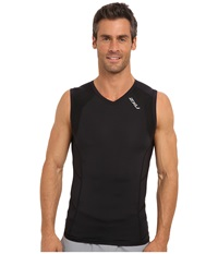 2Xu Compression S L Top Black Black Men's Sleeveless