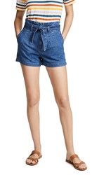 Madewell Structured Paperbag Shorts Deacon Wash
