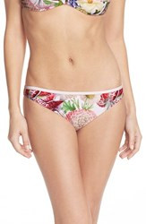 Women's Ted Baker London 'Encyclopedia' Floral Print Bikini Bottoms