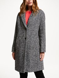 John Lewis Collection Weekend By Moxie Herringbone Cocoon Coat Navy