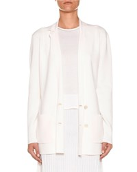 Agnona Lightweight Wool Double Breasted Jacket Off White