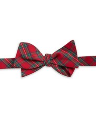 Brooks Brothers Plaid Bow Tie Red