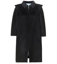 Prada Virgin Wool Blend Coat Black