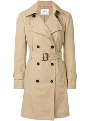 Dondup Belted Trench Coat Nude And Neutrals