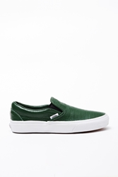 Opening Ceremony Vans Crocodile Embossed Leather Slip Ons Forest Green