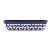 Bunzlau Castle Rectangular Oven Dish Blue Valentine Small