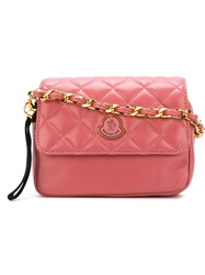 Moncler Quilted Cross Body Bag Pink And Purple