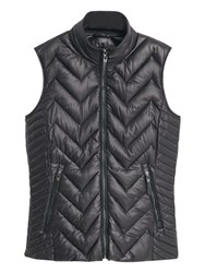 Mango Quilted Gilet Black