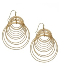 Inc International Concepts Gold Tone Multi Circle Hook Earrings