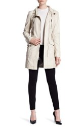 Kenneth Cole Faux Leather Coat White