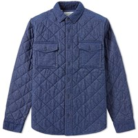Barbour Bay Quilted Overshirt Blue
