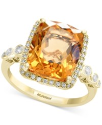 Effy Citrine 7 Ct. T.W. And Diamond 1 3 Ct. T.W. Ring In 14K Gold
