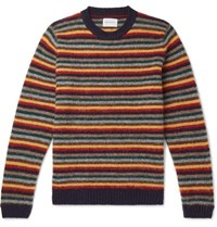 Norse Projects Sigfried Striped Brushed Wool Sweater