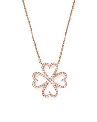 Bloomingdale's Diamond Four Leaf Clover Pendant Necklace In 14K Rose Gold .40 Ct. T.W.