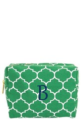 Cathy's Concepts Monogram Cosmetics Case Green B