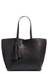 Phase 3 Whipstitch Tassel Faux Leather Tote