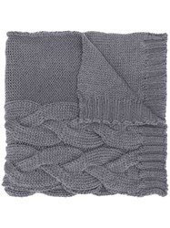 Semicouture Chunky Knit Scarf Grey