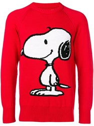 Lc23 Snoopy Print Sweater Red