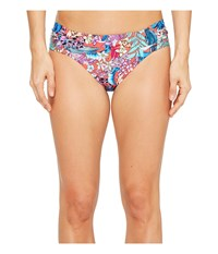 Kenneth Cole Tropical Tendencies Tab Side Hipster Bottom Cherry Women's Swimwear Red