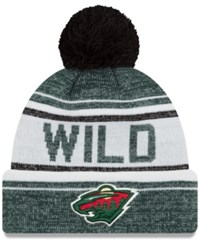 New Era Minnesota Wild Snow Dayz Knit Hat Darkgreen White Black