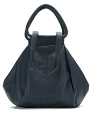 Mara Mac Leather Tote Blue