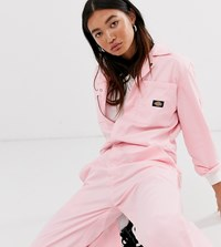 Dickies Relaxed Boiler Suit With Woven Badge Pink