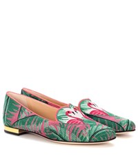 Charlotte Olympia Flamingo Ballerinas Pink