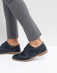 Red Tape Brown Leather Brogues Blue
