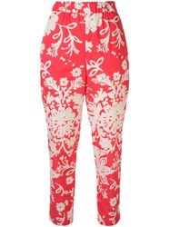 Red Valentino Redvalentino Printed Tapered Trousers