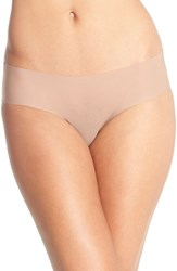 Women's Halogen 'No Show' Mesh Hipster Briefs Beige Brush