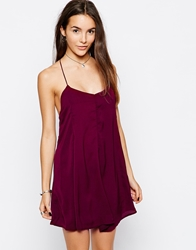 Glamorous Swing Cami Dress Burgundy