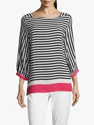 Betty Barclay Striped Blouse White Blue