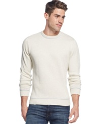 Club Room Big And Tall Solid Tipped Crew Neck Sweater Silverbirch Heather