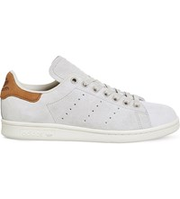 Adidas Stan Smith Low Top Nubuck Trainers Off White Brown