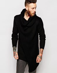Asos Jumper With Oversized Cowl Neck Black