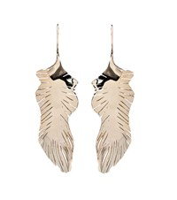 Valentino Garavani Feather Drop Earrings Gold