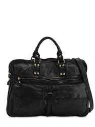 Campomaggi Vintage Effect Leather Briefcase Black