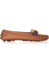 Tory Burch Casey Color Block Textured Leather Loafers
