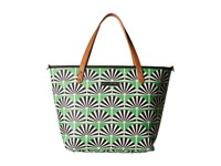Petunia Pickle Bottom Glazed Downtown Tote Playful Palm Springs Tote Handbags Green