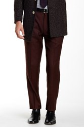 Gi Capri Flat Front 1 4 Top Pocket Wool Pant Red